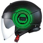 prilba Fluid AGV multi pix black/green